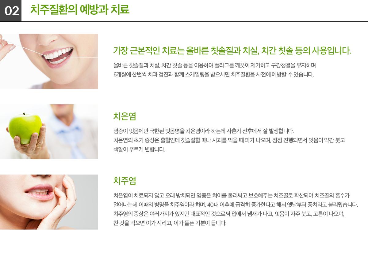 치주질환의 예방과 치료